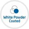 white powder coated