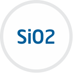 silicon dioxide or silica sand. Silica (SiO2) is a common fundamental constituent of glass