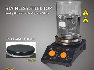 Stainless Steel Top Analog Hotplate with Magnetic Stirrer